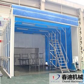 移动喷漆室现场安装